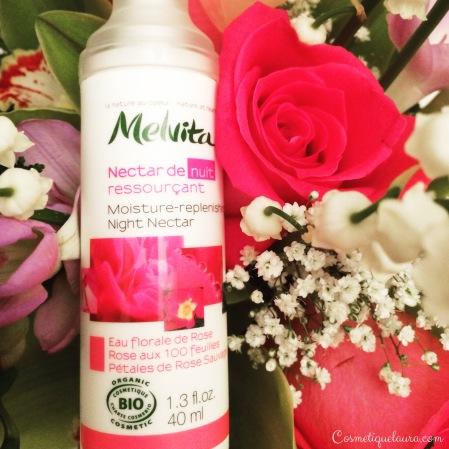 Melvita nectar de nuit ressourçant eau florale de rose